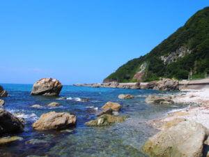 村上は瀬波の海岸がとにかくきれい