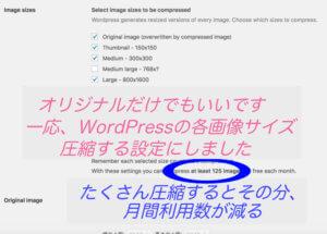 Compress JPEG & PNG imagesの細かい設定