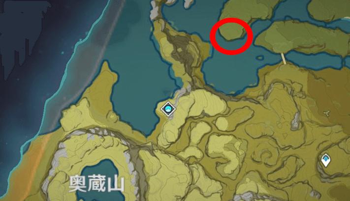 ダンディのいる場所、奥蔵山マップ