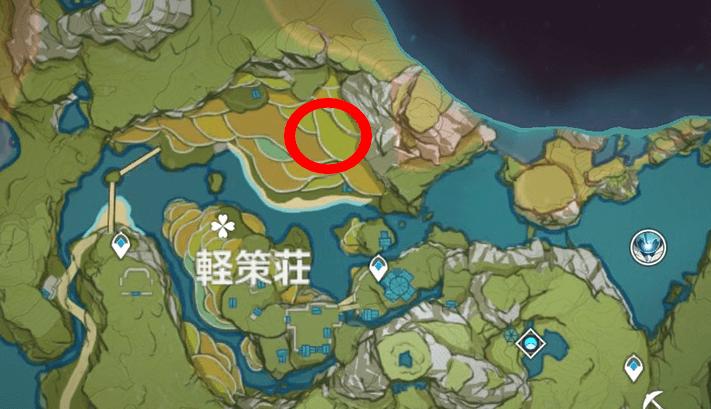 ダンディのいる場所、軽策荘マップ