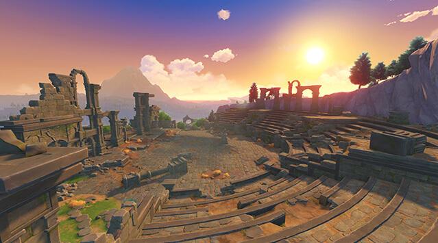 テイワット、モンド、原神の高いクオリティの世界観、千風の神殿
