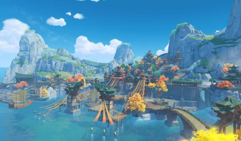 テイワット、璃月、原神の高いクオリティの世界観、望舒旅館