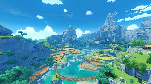 テイワット、璃月、原神の高いクオリティの世界観、軽策荘