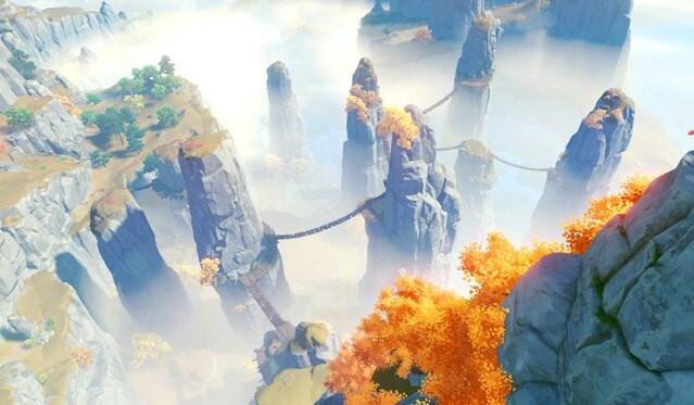 テイワット、璃月、原神の高いクオリティの世界観、絶雲の間