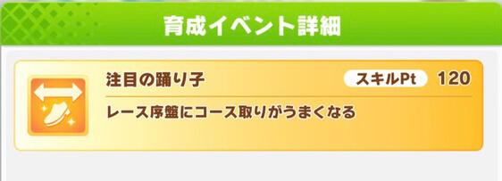 カワカミプリンセス「花嫁たるもの!!」のサポートカード、イベントで取得できるスキル注目の踊り子